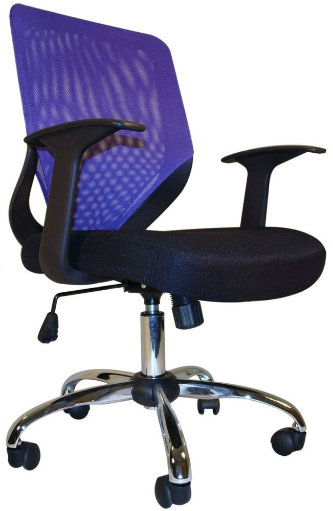 Alphason Atlanta Black and Purple Mesh Office Chair AOC9201-M-PUR