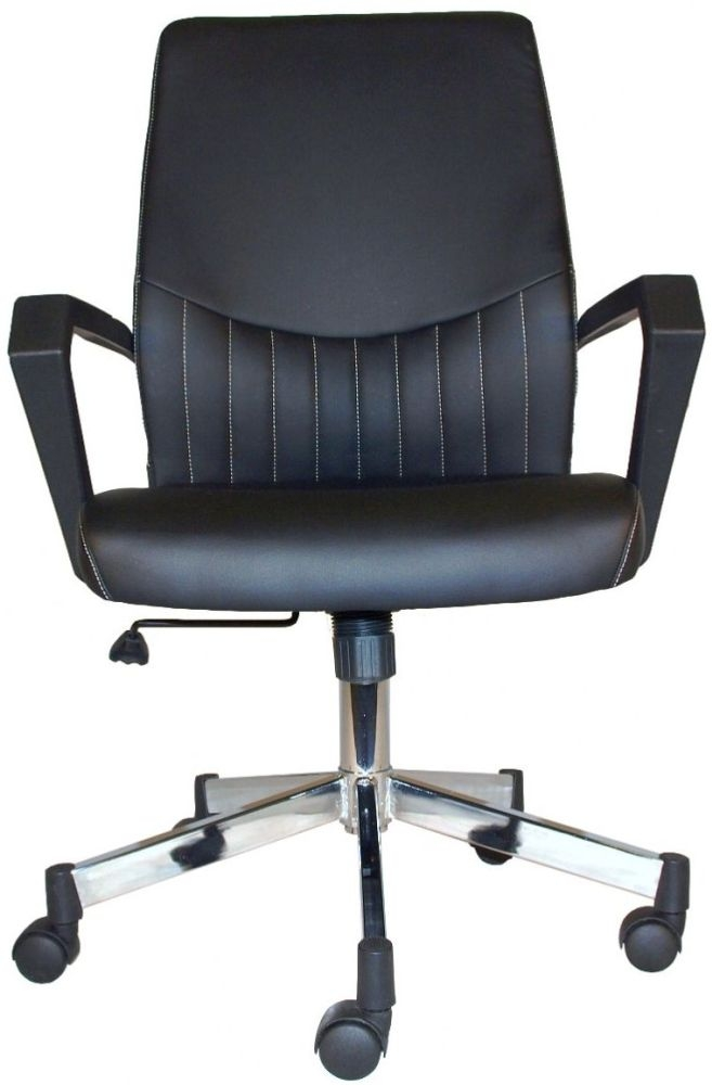 Alphason Brooklyn Black Faux Leather Office Chair - AOC3122-BLK