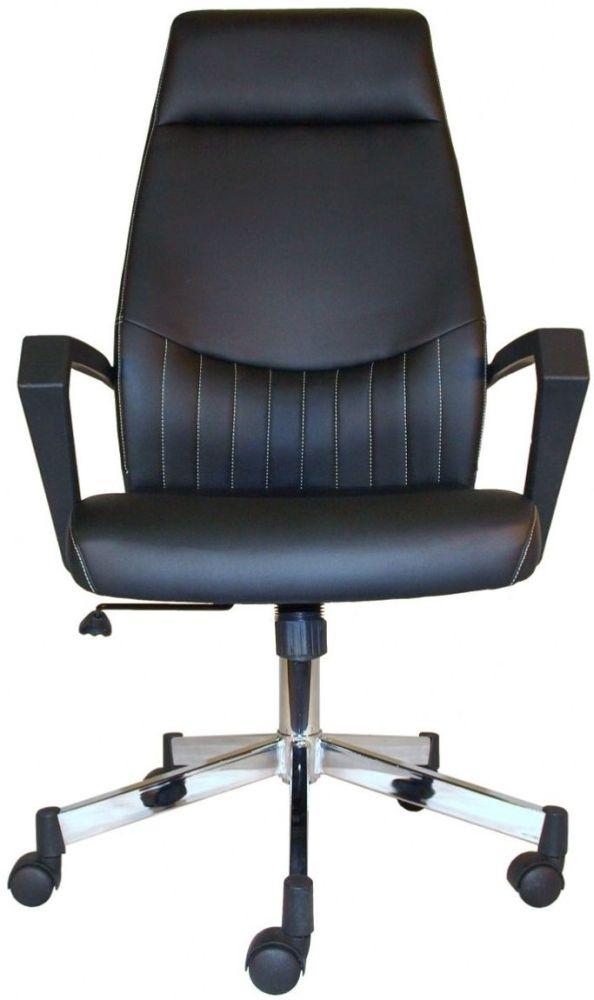 Alphason Brooklyn Black High Back Faux Leather Office Chair - AOC3122HB-BLK