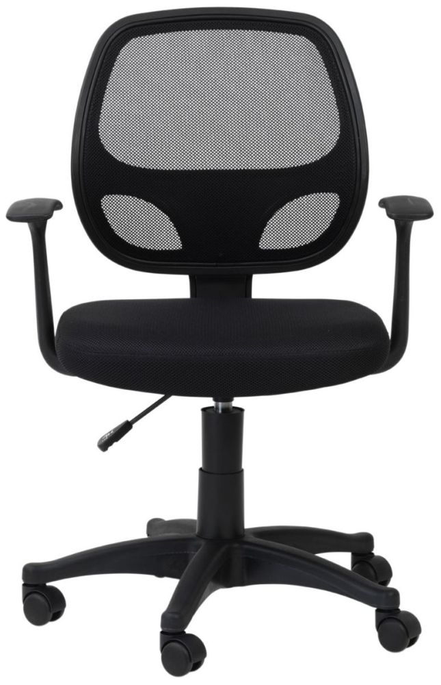 alphason davis black mesh office chair aoc9118 m bk