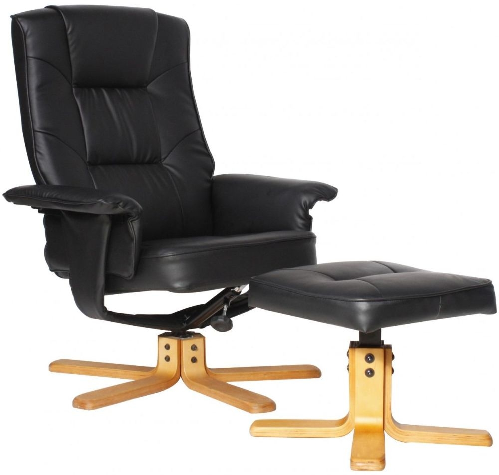 Alphason Drake Chair ARC7595-PU-BLK thumbnail