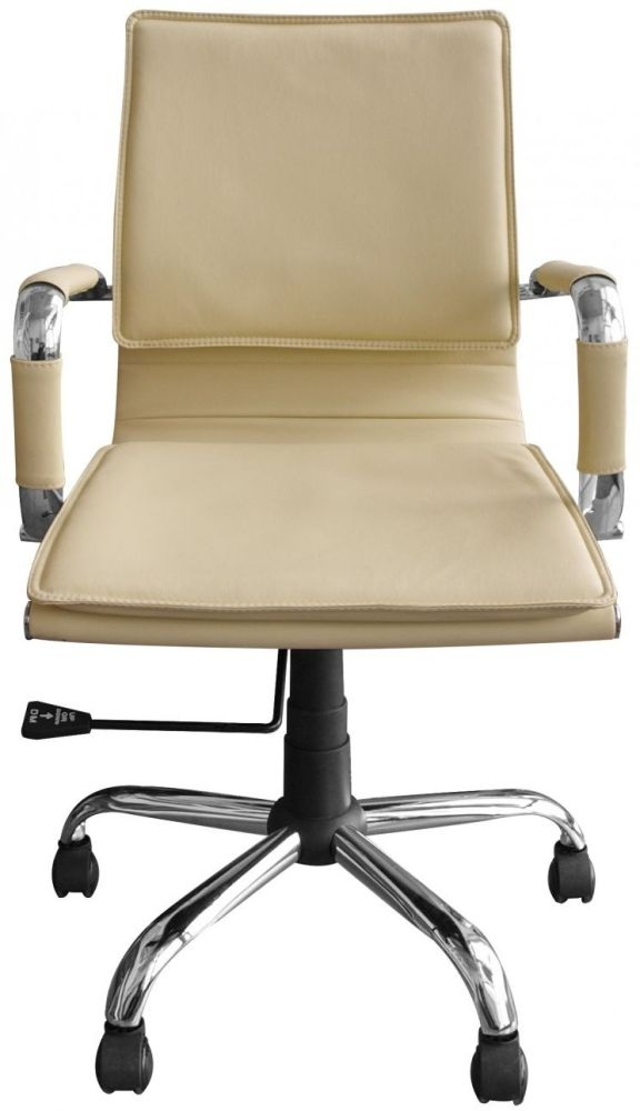 Alphason Emerson Cream Faux Leather Office Chair AOC9530-PU-CRM