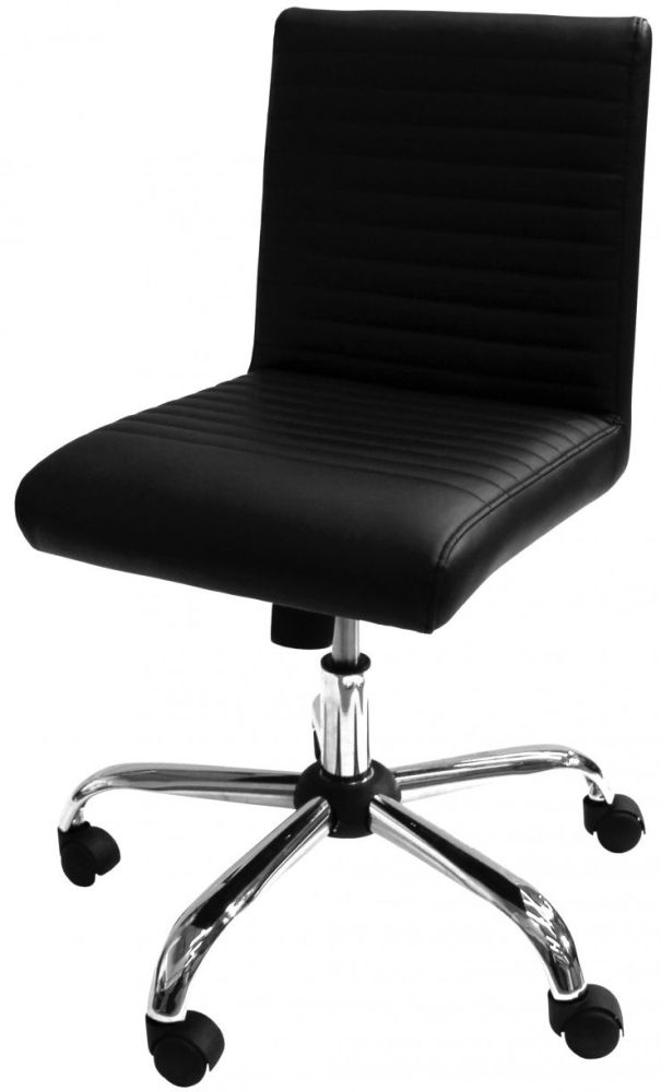 Alphason Lane Black Faux Leather Office Chair - AOC21086-BLK