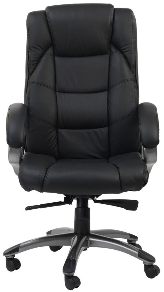 Alphason Northland Black Leather Faced Office Chair - AOC6332-L-BK