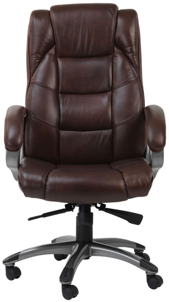 buy leather chairs online buy alphason northland brown leather faced office chair 11873 | 3 Alphason Northland Brown Leather Faced Office Chair AOC6332 L BR