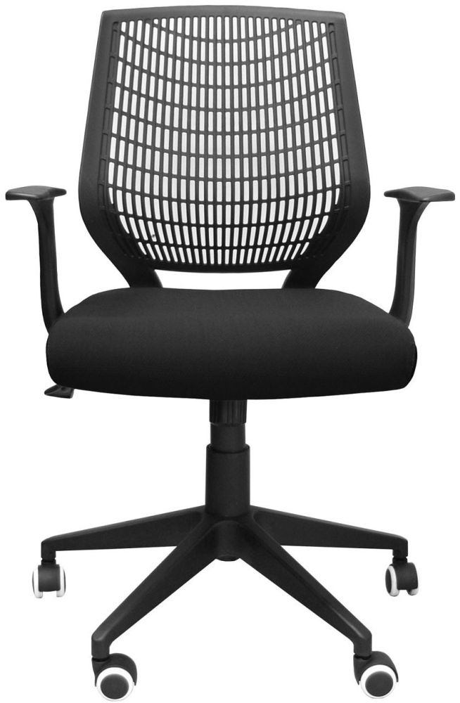 Alphason Pace Black Mesh Fabric Office Chair - AOC9540-F-BK