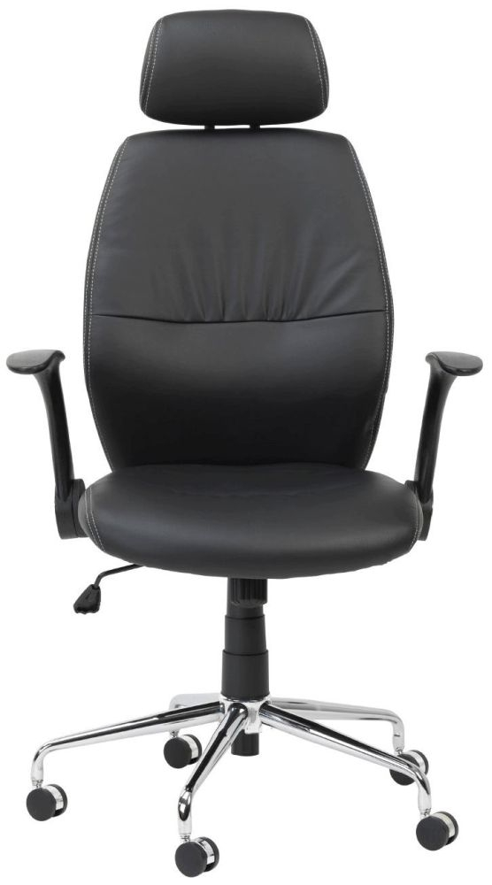 Alphason Parker Black Faux Leather Office Chair - AOC3223-PU-BK