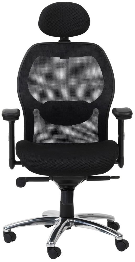 Alphason Portland Black Mesh Fabric Office Chair - AOC7301-M