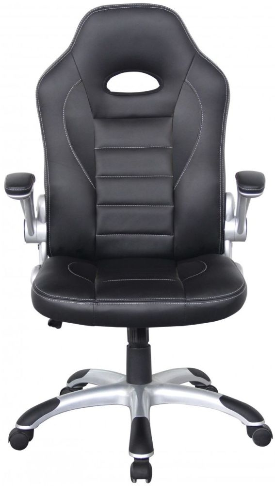 Alphason Talladega Black Faux Leather Office Chair - AOC8211BLK