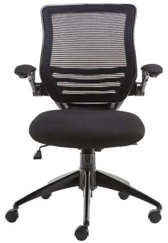 Alphason Stanford Black Mesh Fabric Office Chair - AOC8881-BLK