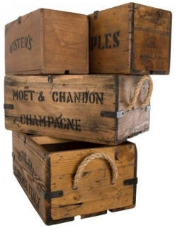 Ancient Mariner Set of 4 Vintage Boxes with Lettering