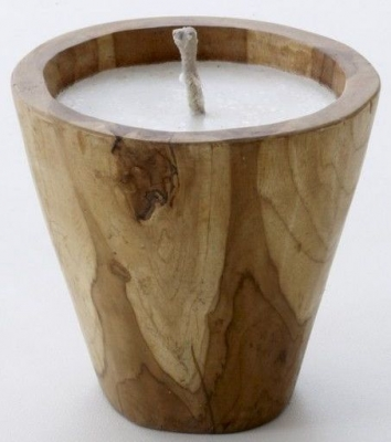 Ancient Mariner Teak Bowl Candle