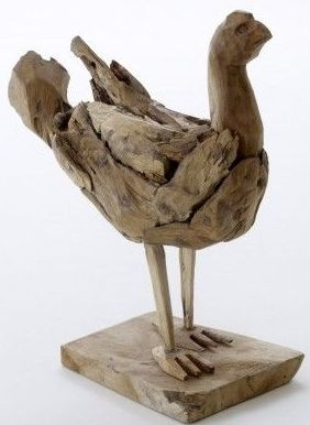 Ancient Mariner Reclaimed Wood Chicken Statue