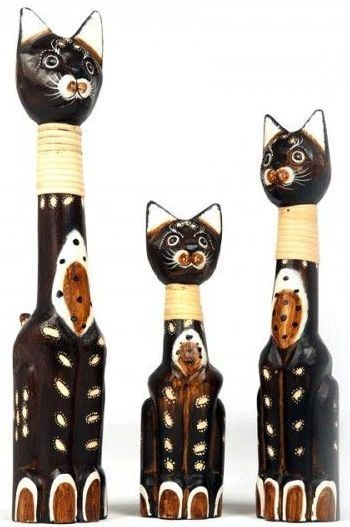 Ancient Mariner Set of 3 Round Cats