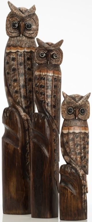 Ancient Mariner Set of Large Owls
