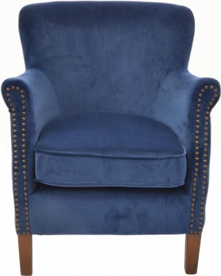 Ancient Mariner Navy Velvet Armchair