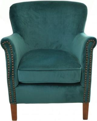 Ancient Mariner Teal Velvet Armchair