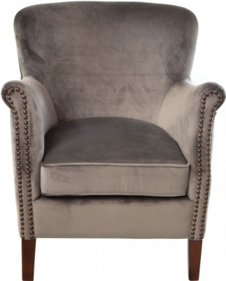 Ancient Mariner Viola Velvet Armchair