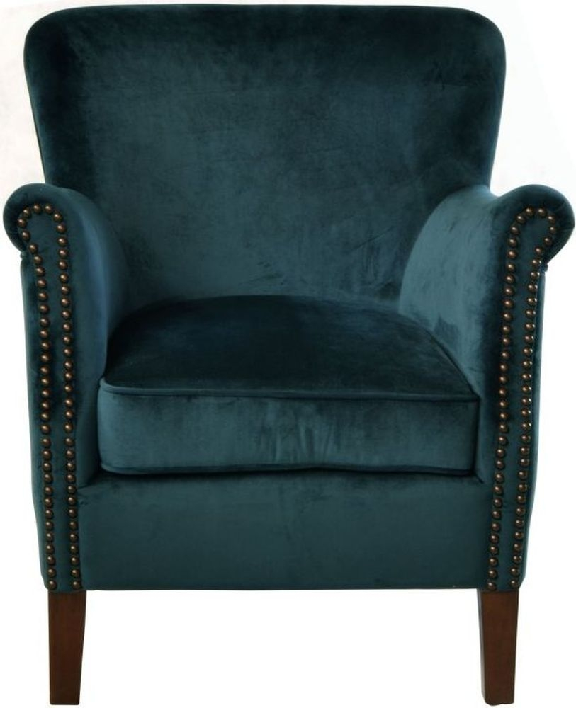 Ancient Mariner Blue Velvet Armchair