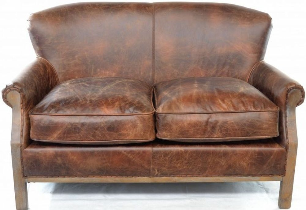 Ancient Mariner Cigar Leather 2 Seater Sofa