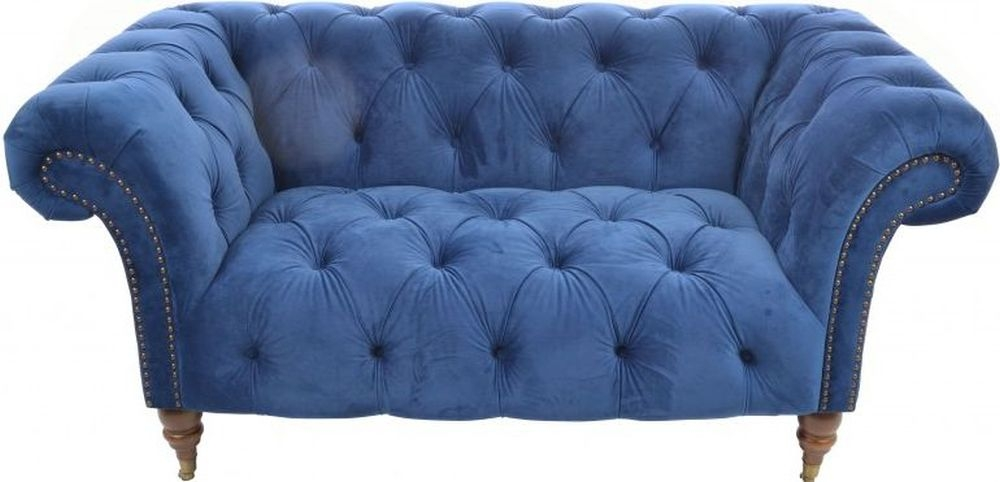 Ancient Mariner Ellie Chesterfield Navy Velvet 2 Seater Sofa