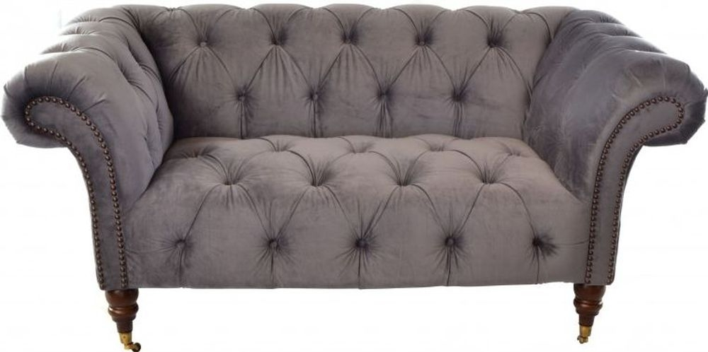 Ancient Mariner Ellie Chesterfield Velvet 2 Seater Sofa thumbnail