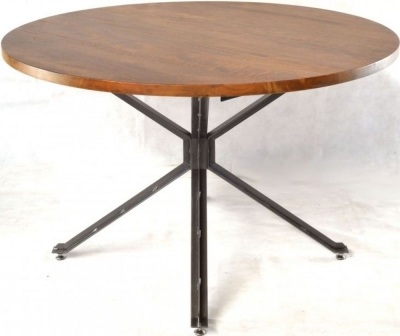 Ancient Mariner Brace Mango Wood Round Dining Table