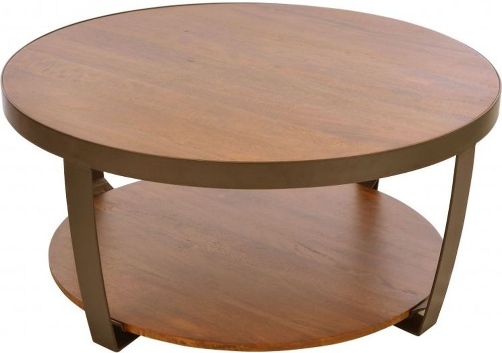 Ancient Mariner Brace Mango Wood Large Round Coffee Table
