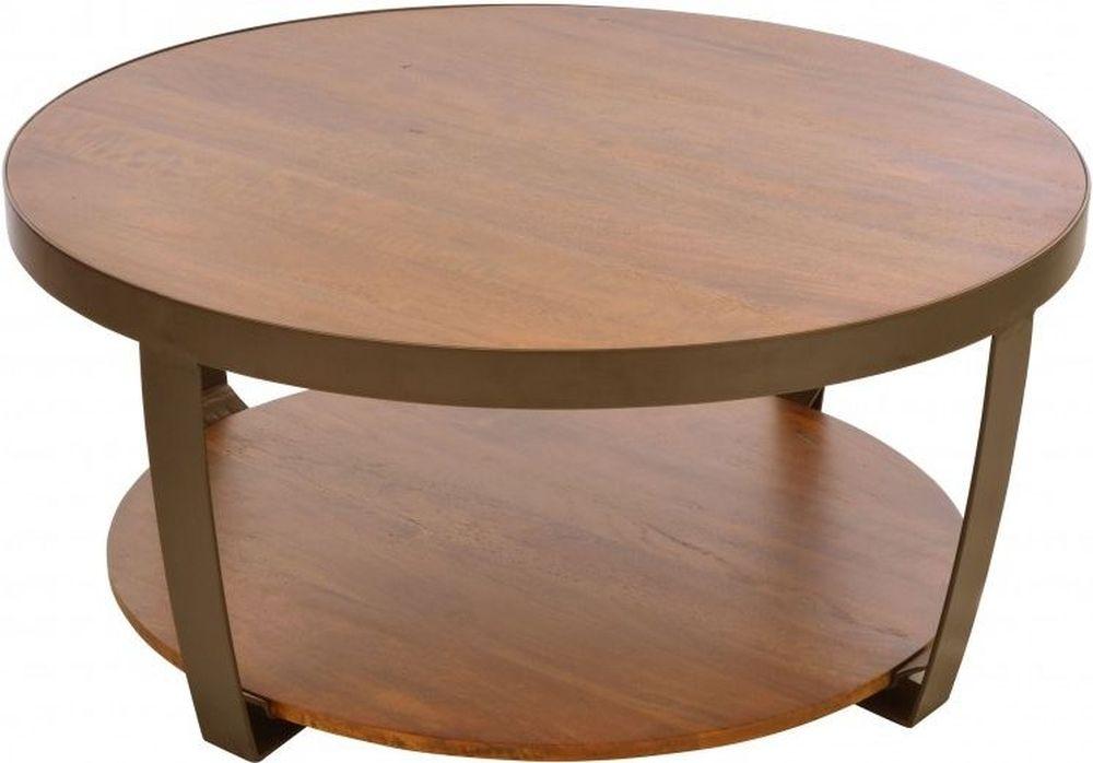 Ancient Mariner Brace Mango Wood Round Coffee Table