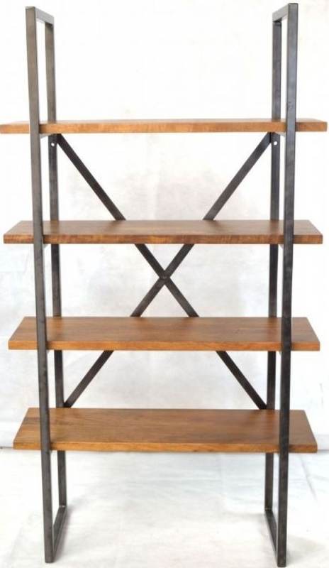 Ancient Mariner Brace Wooden and Metal 4 Shelf Bookcase