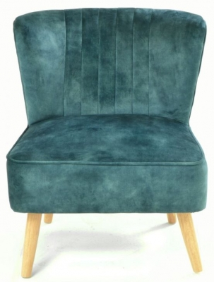Ancient Mariner Cromarty Deep Green Ribbed Back Chair