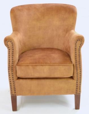 Ancient Mariner Cromarty Gold Velvet Armchair