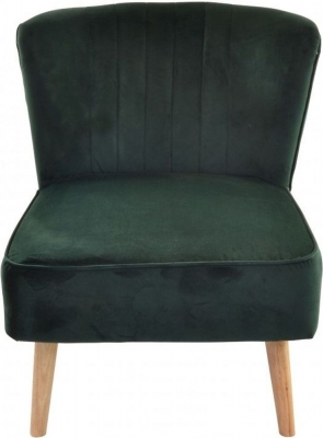 Ancient Mariner Cromarty Forest Green Velvet Ribbed Back Chair