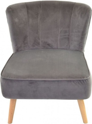 Ancient Mariner Cromarty Grey Velvet Ribbed Back Chair