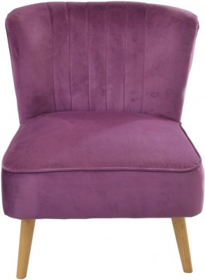 Ancient Mariner Cromarty Plum Velvet Ribbed Back Chair