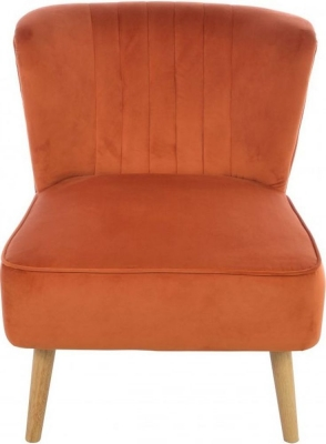 Ancient Mariner Cromarty Pumpkin Velvet Ribbed Back Chair