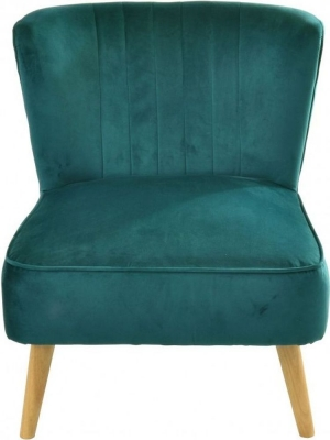 Ancient Mariner Cromarty Teal Velvet Ribbed Back Chair