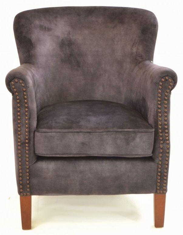 Ancient Mariner Cromarty Charcoal Velvet Armchair