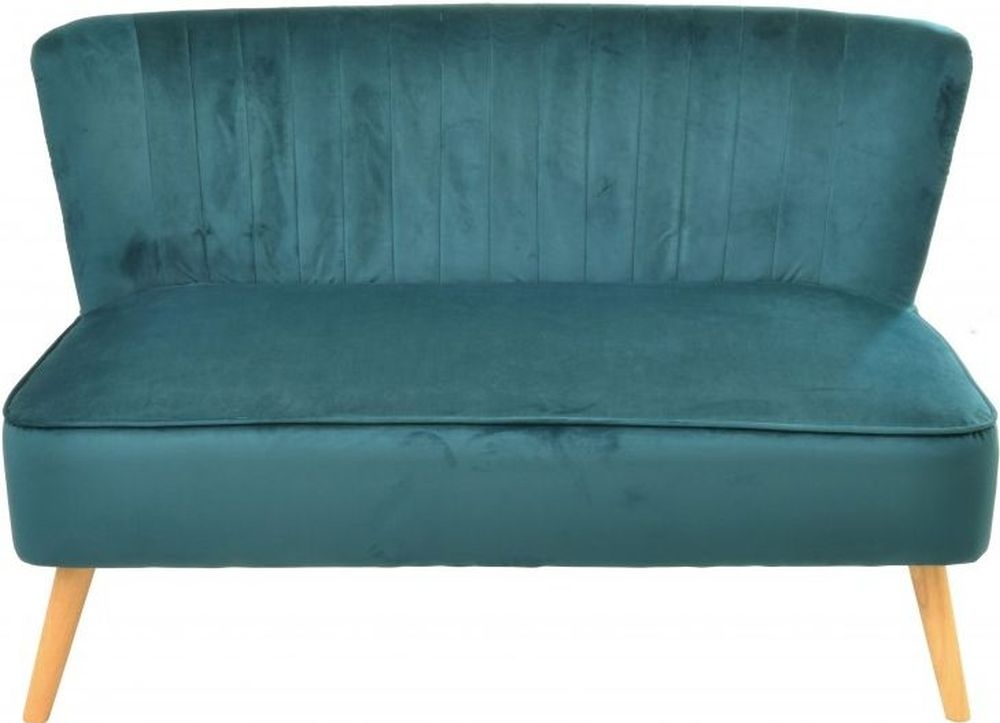 Ancient Mariner Cromarty Teal Velvet 2 Seater Sofa