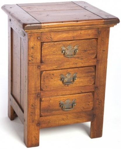 Ancient Mariner East Indies Solid Dark Mango Wood 3 Chest of Drawers