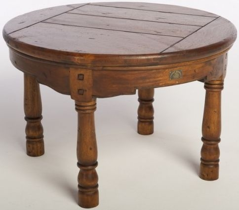 Ancient Mariner East Indies Solid Dark Mango Wood Round Table