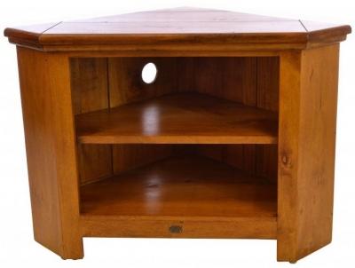 Ancient Mariner East Indies Dark Mango Wood Corner TV Unit