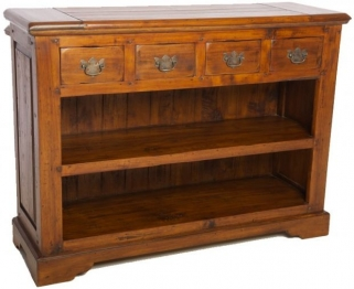 Ancient Mariner East Indies Open Bookcase with Drawers