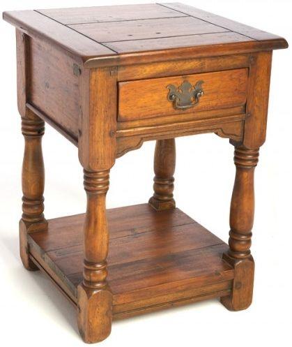 Ancient Mariner East Indies Solid Dark Mango Wood 1 Drawer Bedside Cabinet