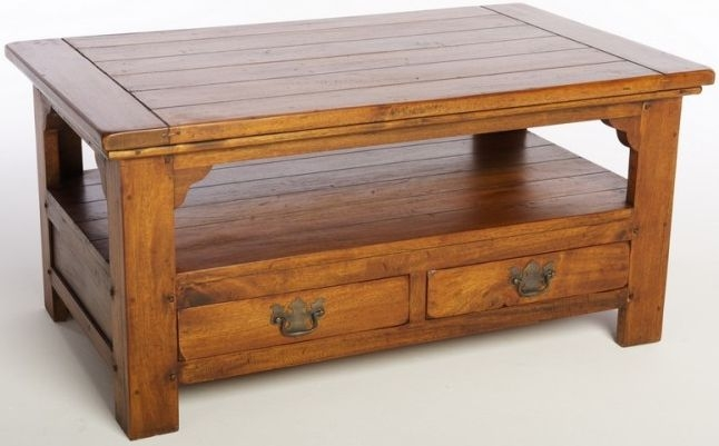 Ancient Mariner East Indies Solid Dark Mango Wood Coffee Table