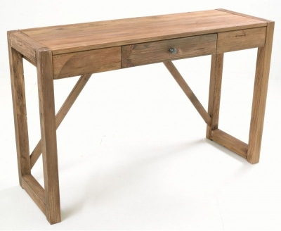 Ancient Mariner Fair Isle Reclaimed Pine 1 Drawer Console Table