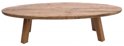 Ancient Mariner Fair Isle Reclaimed Pine Oval Coffee Table