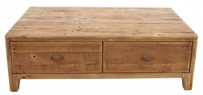 Ancient Mariner Fair Isle Reclaimed Pine 4 Drawer Coffee Table