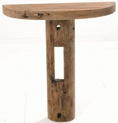 Ancient Mariner Fair Isle Reclaimed Pine Wall Standing Console Table