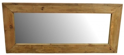 Ancient Mariner Fair Isle Reclaimed Pine Rectangular Mirror - 180cm x 80cm